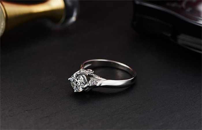 YINHED оригинальный твердый 925 серебряных колец кольцо с лебедем 1ct CZ Циркон Мода Свадьба Помолвка классические ювелирные изделия подарок для женщин ZR015