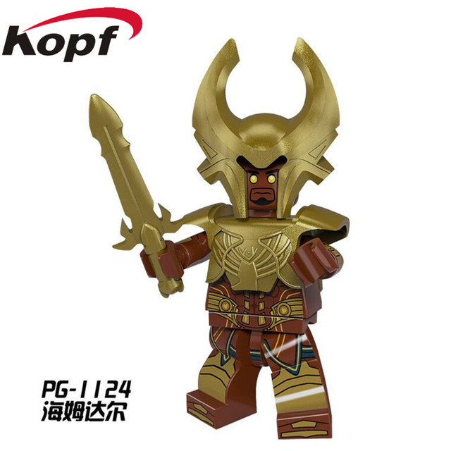 US $0 5 |Single Sale Heimdall Super Heroes Cartoon Movie Heimdallr Journey  into Mystery Alien Building Blocks Children Gift Toys PG1124-in Blocks from