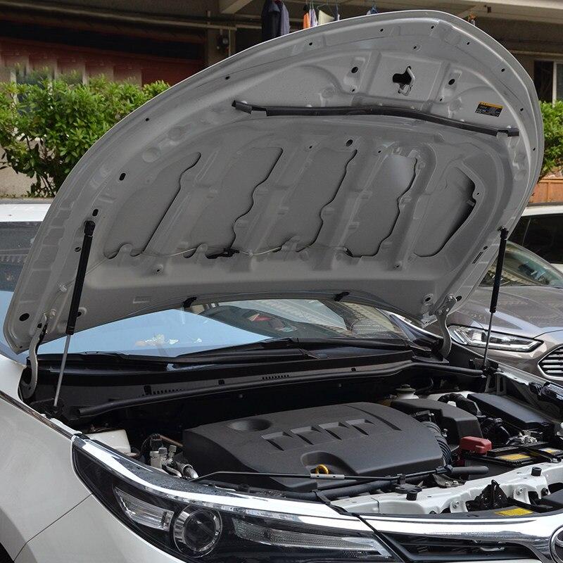 Pour Toyota Corolla 2014 15 2016 2017 couvercle de moteur noir en acier inoxydable tige de Support Support de capot hydraulique poteaux ressorts à gaz