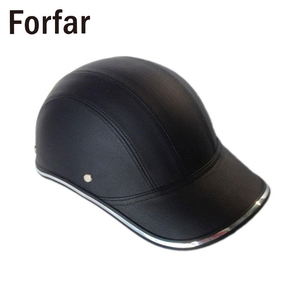 ABS+PU Helmet Baseball Cap Outdoor Cycling Half Open Face Universal Protective