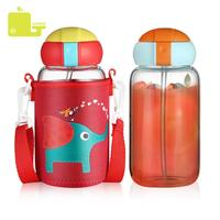 Hot Sell Thermos Bottle for Kids Double Walled Thermal Mug Cup Vacuum Flask Insulation Thermo Flask with Straw Bottles