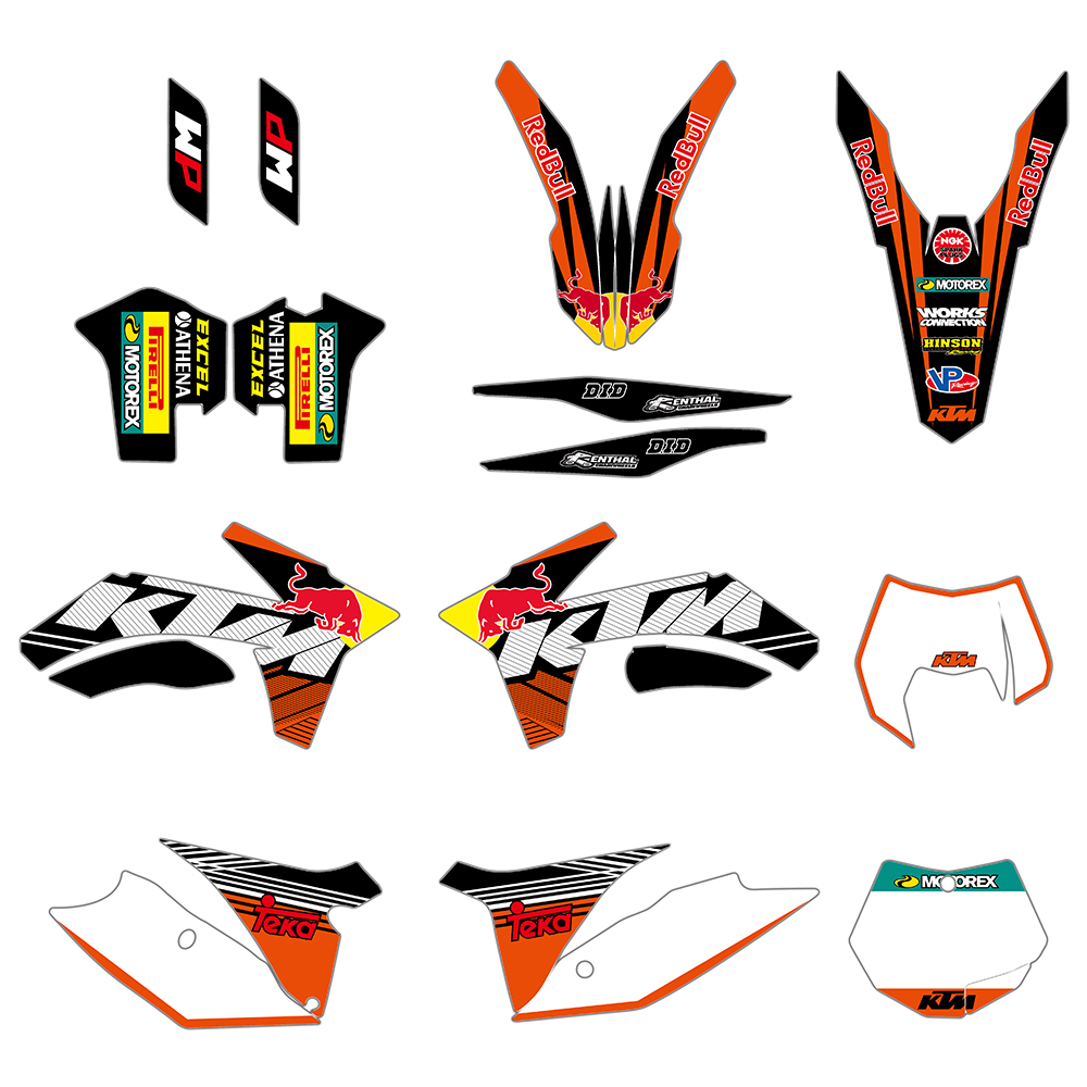 Motorcycle Graphic Decal Sticker For KTM SX SXF XC XCF XCW XCF W 125 200 250