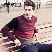 Blusa Masculina 2016 New Brand Autumn Winter Men Wool Sweater High Quality O-neck Thick Knitwear Pullover Men Sweaters