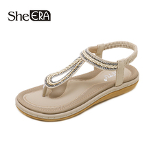 New Fashion Women Sandals Women Crystal Sandals Casual Comfortable Sandals Classic Women Shoes She ERA keerygo new high end leather comfortable feet sandals classic sandals
