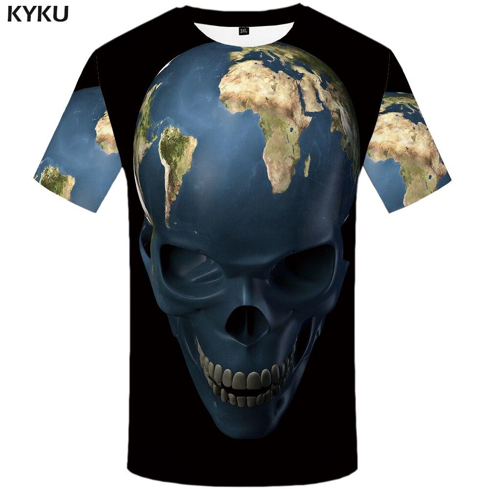 KYKU Military T shirt Men Black Skull T Shirt Hip Hop Tee Casual Gothic 3d Printed Tshirt Punk Rock Mens Clothing Streetwear Top in T Shirts from Men 39 s Clothing