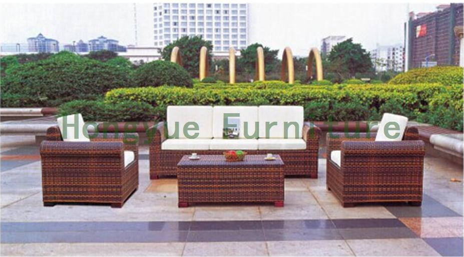 Outdoor garden new pe rattan sofa set,outdoor furniture set supplier