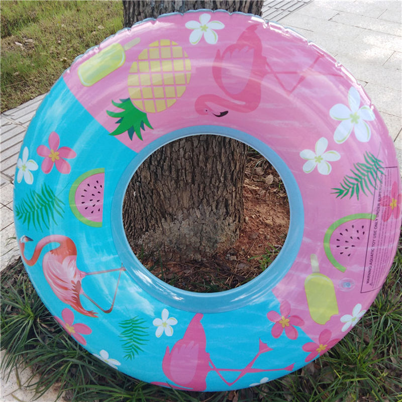 90cm Flamingo Print Swimming Ring For Children Kids Inflatable Pool Float Boys Girls Floats Water Toys Summer Party Props boia