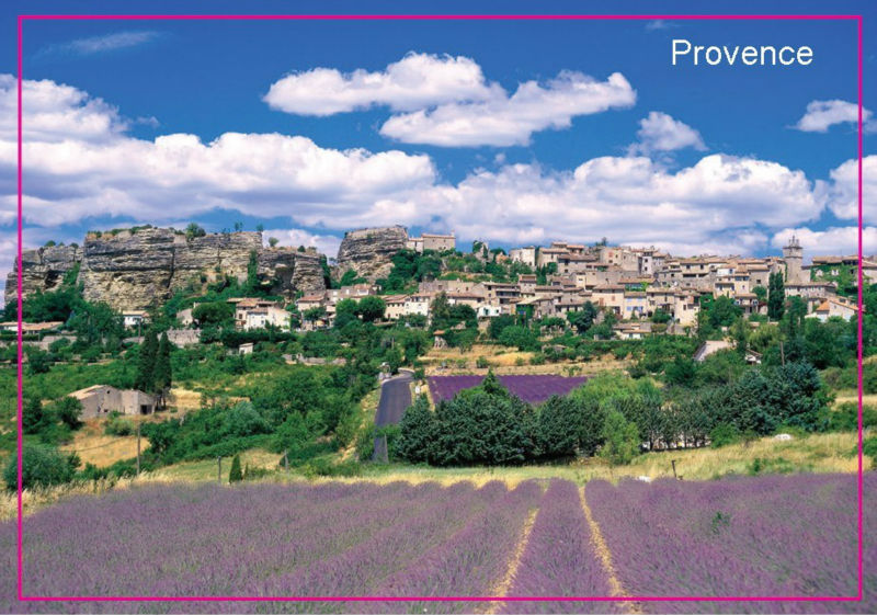 Metal Wrapped Magnets FREE shipping European French Provence Lavender Landscape Famous Flower Field Fridge Magnet 5414