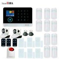 SmartYIBA 3g WCDMA/CDMA беспроводная домашняя охранная сигнализация с ip камерой wifi SMS Alarma со стробоскопической сиреной комплект дверной сигнализации