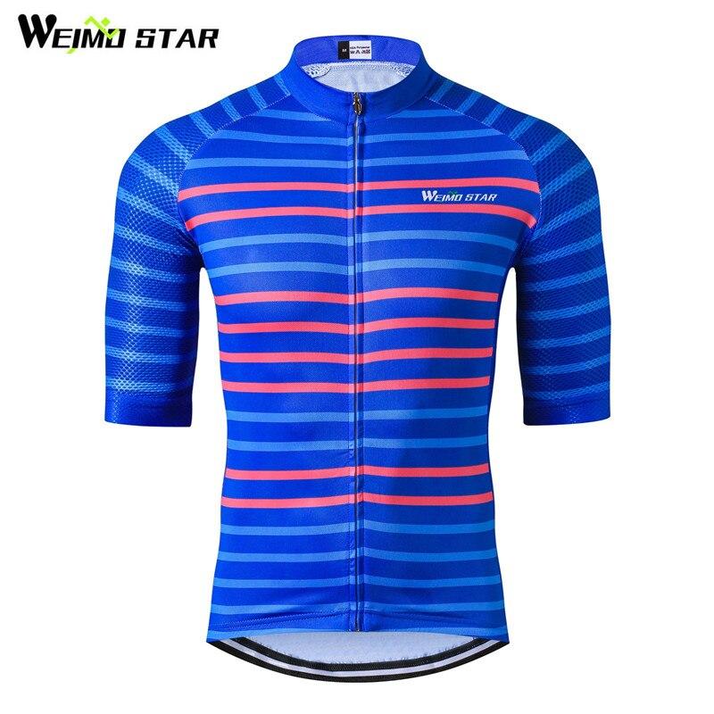 Weimostar 프로 팀 레이싱 사이클링 의류 통기성 짧은 사이클링 저지 남성 산악 자전거 저지 자전거 셔츠 Ropa Ciclismo