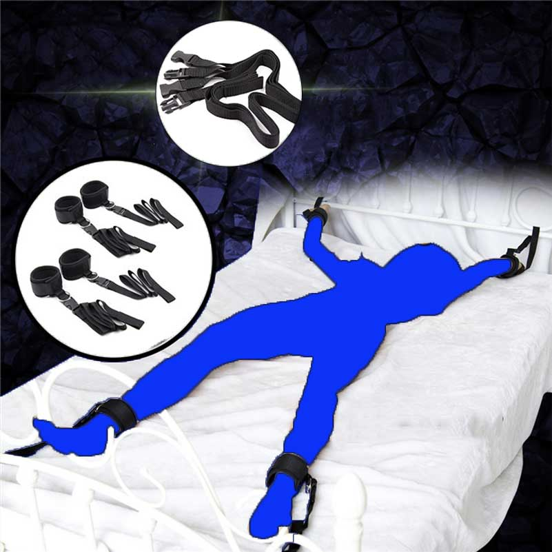 Sexspielzeug für Paare Bett-rückhaltesystem Bondage Strap Fetisch Erwachsene Spiele Gesetzt Handgelenke und...