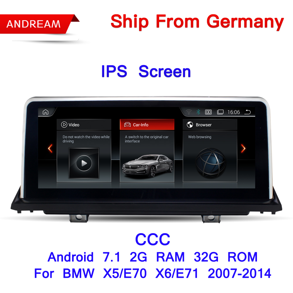 10.25 Android Écran 7.1 Véhicule Lecteur Multimédia Pour BMW E70 E71 X5 X6 Bluetooth GPS Navigation Wifi Livraison Allemagne le bateau EW969B
