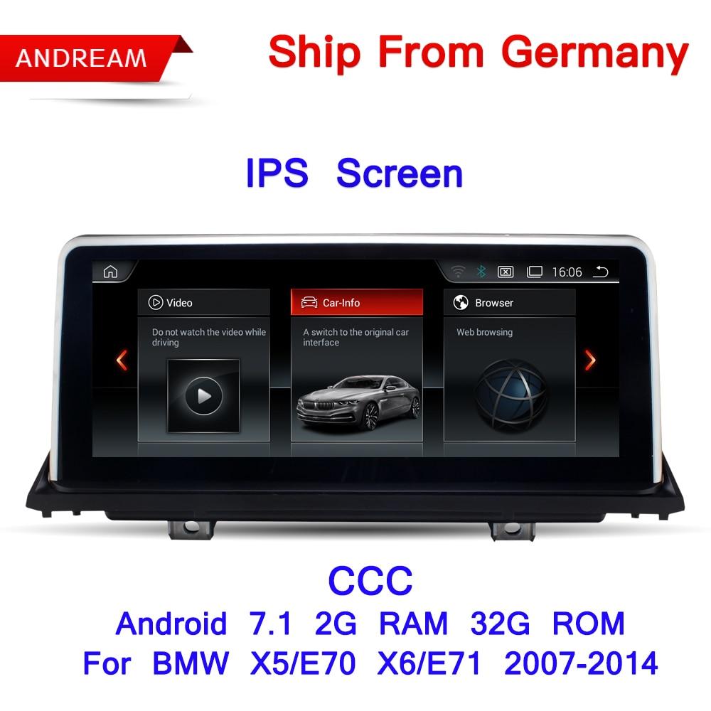 10,25 Android Экран 7,1 автомобиль мультимедийный плеер для BMW E70 E71 X5 X6 Bluetooth gps навигации Wi-Fi Бесплатная Германия корабль EW969B