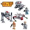 Bela 3 unids Buques de guerra de la Nave Espacial de Star Wars StarWars Clone Troopers legoeINGlys Bloques Huecos de Mini Figuras Ladrillos Establece Juguetes de Los Niños