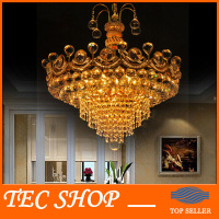 JH Luxury K9 Crystal Chandelier Modern Dinning Room LED Crystal Lamp Living Room Fashion Gold Silver
