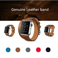 high quality Genuine Leather Loop For Apple Watch Band Double Tour 42mm Adjustable Magnetic For Apple Watch leather strap 38mm