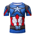 New Captain America Falcon Tops Mens Short Sleeve Fitted Compression Tee For Halloween Cosplay Costumes