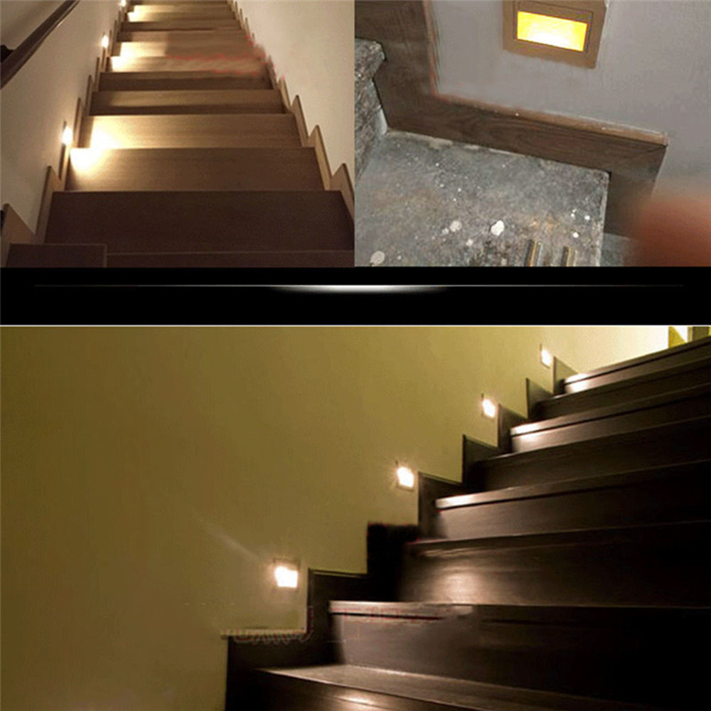 LED stair light 1.5W Recessed LED wall foot light motion Detector ... for Wall Foot Light  155sfw
