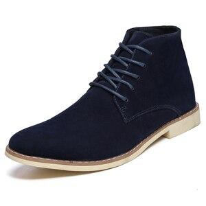 Image 3 - VESONAL Zapatillas altas de cuero para hombre, zapatos masculinos con felpa de pelo, cálidos, informales, clásicos, cómodos, para otoño e invierno, 2020