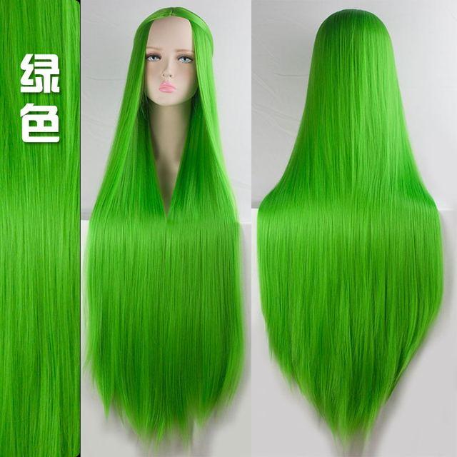 100cm Multicolor Wigs 4