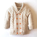New Arrived 2017 Baby boys Girls Sweater Kids Winter Autumn Thicken Outerwear knitting pattern clothing