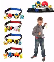 New Pokeball Clip N Carry Poke Ball Cross Belt Action Figure Toy Poke Belt Pretend 2pcs Pokeball +2 pcs Anime