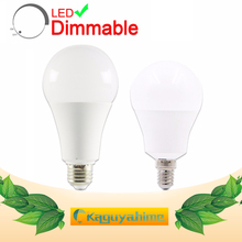цена на Dimmable LED Bulb E27 E14 Lamps 220V 240V Light Bulb Smart IC Real Power 20W 18W 15W 12W 9W 5W 3W LED E14 Warm White Cold White
