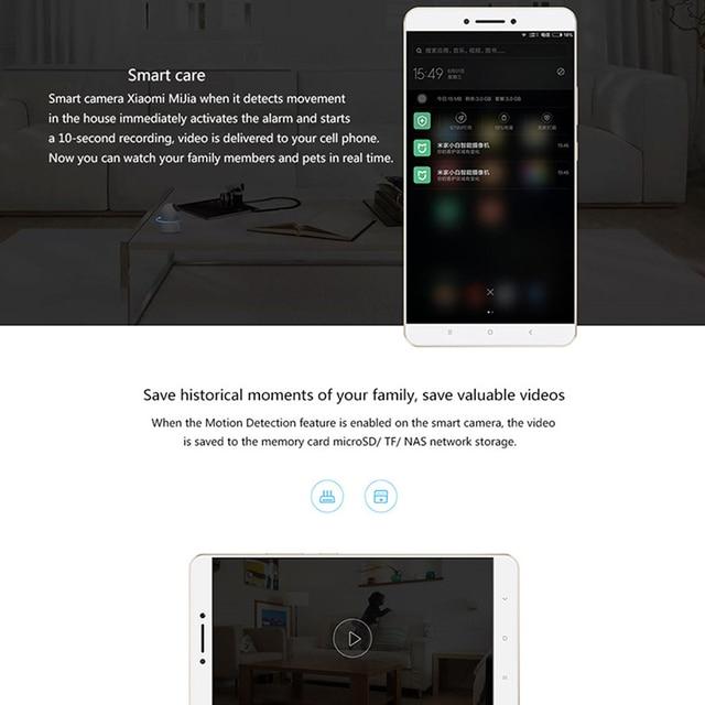 Original Xiaomi Mijia Smart Cameras 360 Angle 1080P Full HD Night Vision Webcam Camcorder WiFi Wireless IP Web Cam APP Smart Cam 3