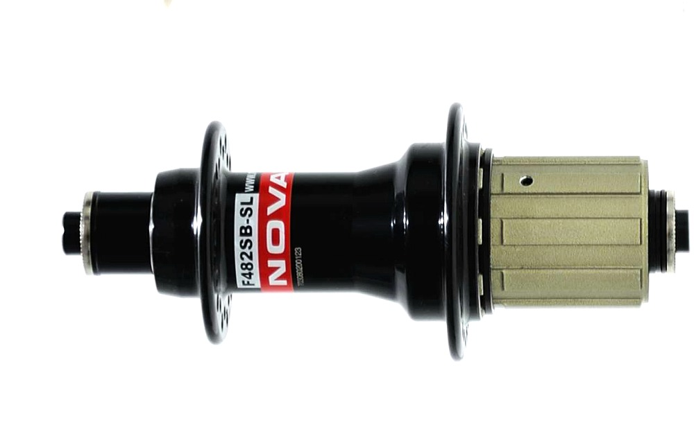 Lightweight Novatec F482SB SL road bike hubs Rear 225g black red 9 10 11S 24 holes