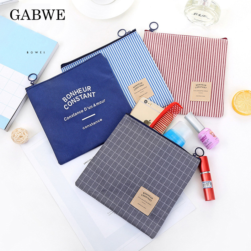 GABWE Fashion Women Zipper Travel Makeup Bag Organizer Cosmetic Bag For Female Small Necessity Beauty Handbag Purse Make Up Bags