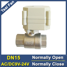 Power Off Return DN15 Normally Open/Close Valve AC/DC 9V 12V 24V 2-Way BSP/NPT 1/2'' SS304 Water Electric Valve With Indicator