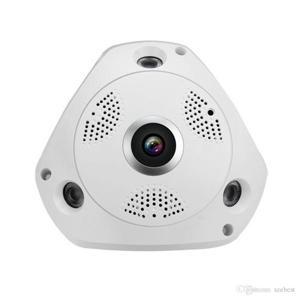 3mp рыбий глаз панорамная Ip камера VR Cam Smart 360 градусов беспроводной детектор движения 128 ГБ бортовой записи, IR 35ft Smart App - 4