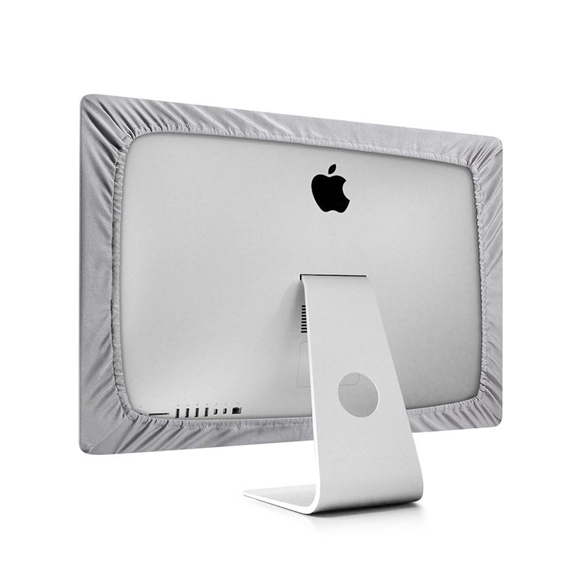 2019New Silver Polyester Stretch Computer Monitor Dust Cover Protector With Inner Soft Dust Covers For Apple IMac LCD Screen