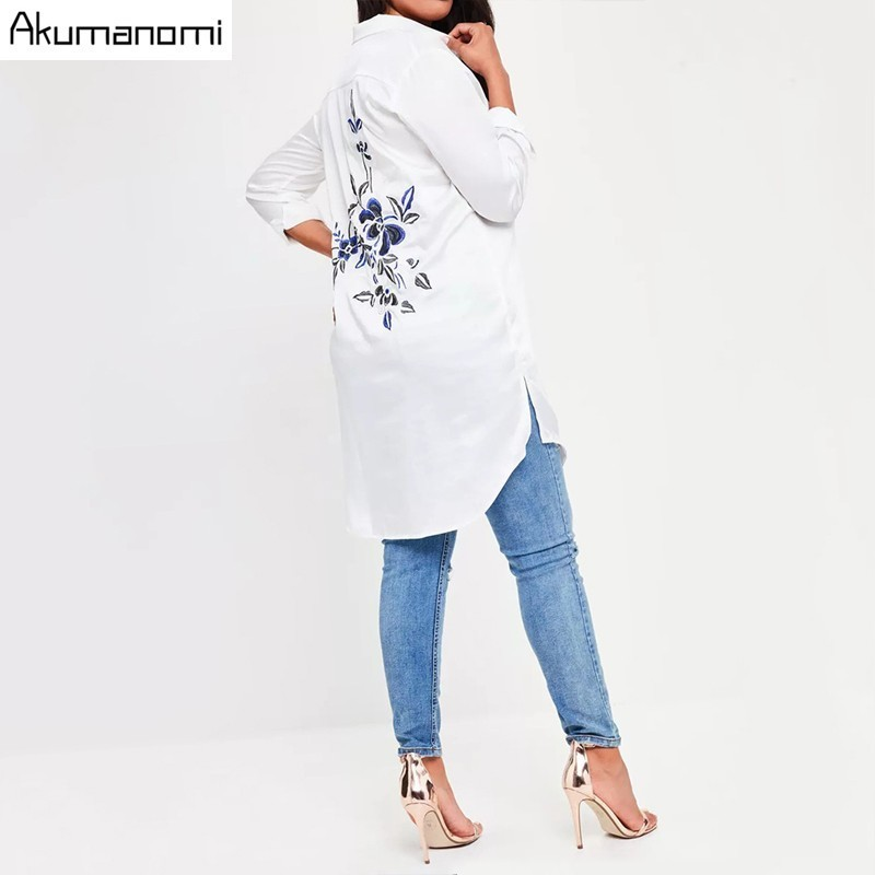 Plus Measurement Stable White Girls Blouses Floral Embroideried Lengthy Sleeve Feminine Clothes Informal Woman Tops 7XL 6XL 5XL 4XL 3XL 2XL Blouses & Shirts, Low-cost Blouses & Shirts, Plus...