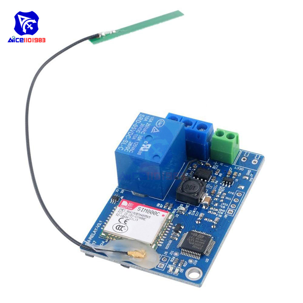 US $14 68 11% OFF|1 Channel GSM SIM800C Relay Module SIM800C STM32F103CBT6  Antenna 2G Network for Arduino Smart Home SMS GSM Remote Control Switch-in