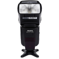 Wireless TRIOPO TR 586EX N 1/8000s TTL FEB S1 / S2 Master Slave Camera Digital LCD Flash Hot Shoe Speedlite For Nikon Canon