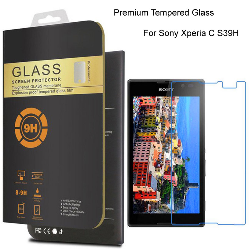 For Sony Xperia E5 S39H L S36H M C1905 SP M35H ZR M36H M2 M4 Aqua M5 V LT25i X Performance Tempered Glass Film Screen Protector