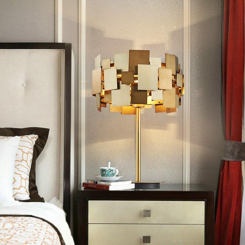 FUMAT Designer Gold Schreibtischlampe Moderne Gold Edelstahl Tischlampe  Wohnzimmer Schlafzimmer Licht Mode Nachttischlampe In FUMAT Designer Gold  ...