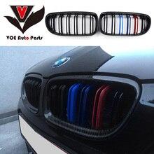2009-2012 E90 блеск для губ на каждый день, 3 цвета углеродного волокна менять на M3 стиль 2-линией гоночный автомобиль решетка для BMW E90 3 серии(не подходит для E90 M3