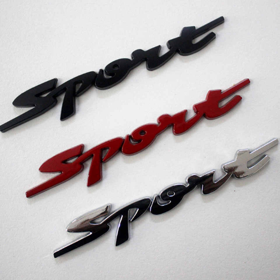 3D Car Sticker SPORT Modified Standard Sports Car Styling Decorative Metal Plating Badge Door Decal Logo Auto Accessories