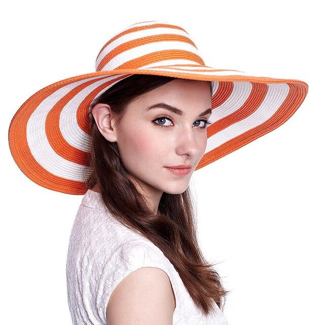 2016 новых леди солнца летом соломенная шляпа женщины сложить широкими полями элегантные путешествия Hat новый головной убор B-1966
