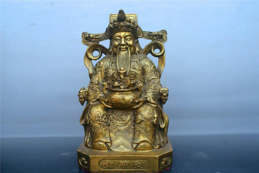 8Brass god of wealth statue Fengshui worship Deity Statue8Brass god of wealth statue Fengshui worship Deity Statue