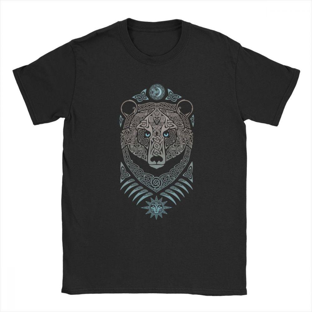 Man's Forest Lord T Shirts Viking Valhalla T-Shirt Humor Crew Neck Short Sleeve Tops 100% Cotton Tee Shirt Printed