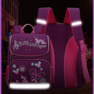 Image 5 - New Children School Bags Girls Butterfly School Backpack Kids Satchel Boy Car Knapsack Girl Backpack For School Space Bag