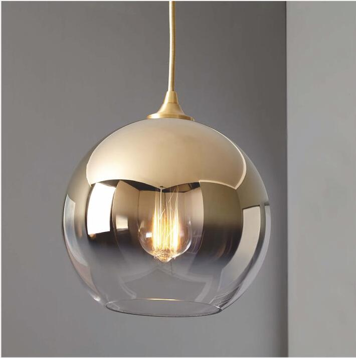 American Creative Glass Ball Pendant Lights Iron Hoop Hang Lamp for Bedroom Cafe Restaurant Bar Indoor Lighting Fixtures DecorAmerican Creative Glass Ball Pendant Lights Iron Hoop Hang Lamp for Bedroom Cafe Restaurant Bar Indoor Lighting Fixtures Decor