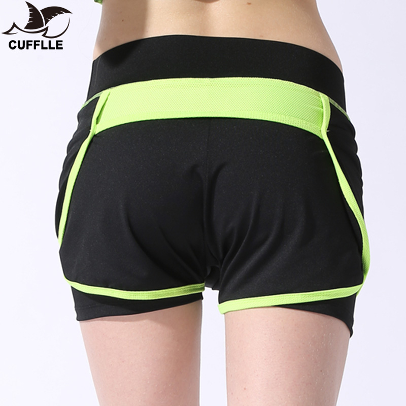 CUFFLLE Women Sport Running Shorts Elastic Waist Woman Quick Dry Fitness Shorts Female Yoga Short Pants