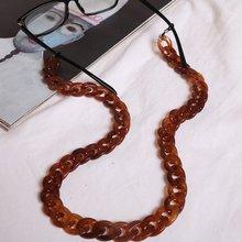 21 Colors 70cm Glasses Chain Fashion Wide Acrylic Eyeglasses Sunglasses Reading Strap Eyewear Accessories