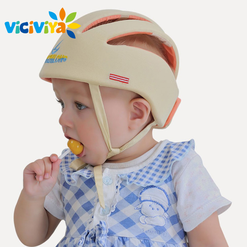 Image 4 - VICIVIYA Infant Protective Hat Safety Helmet For Babies Cotton Baby Toddler Anti collision Cap Kids Sun Hats Soft Children Caps#-in Hats & Caps from Mother & Kids