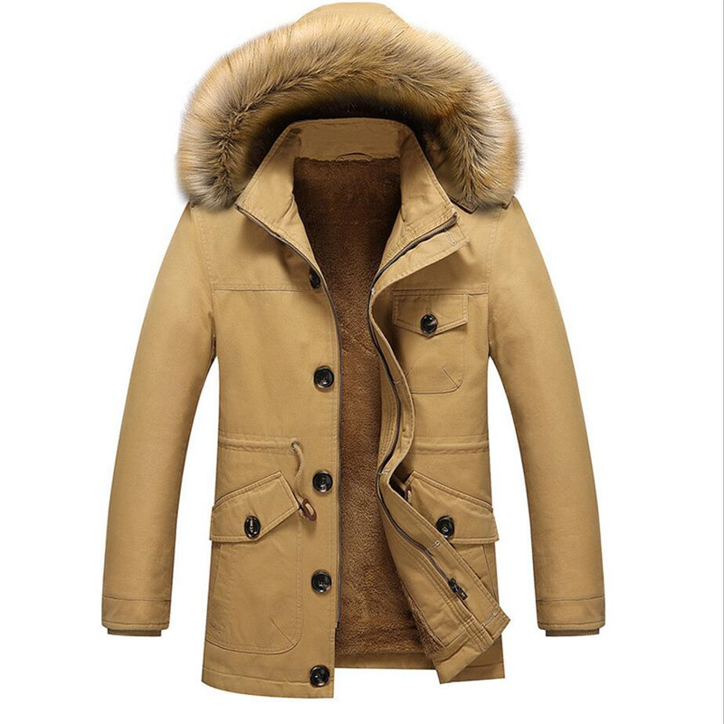 2017 New Winter Jacket Men Fashion Casual Thick Warm Fur Collar Parka Men Hooded Coat Male Parkas Hombre Invierno Plus Size 5XL free shipping winter parkas men jacket new 2017 thick warm loose brand original male plus size m 5xl coats 80hfx