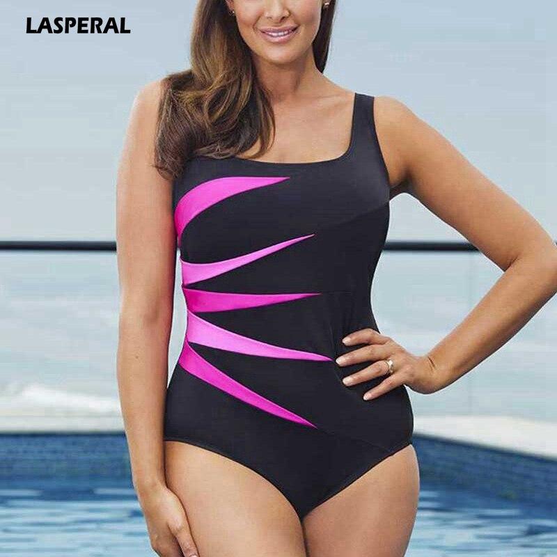 LASPERAL 2017 New One Piece Suit Women Beachwear Swimwear Bodysuit Plus Size Swimsuit Elastic Bathing Suit Malliot De Bain Femme